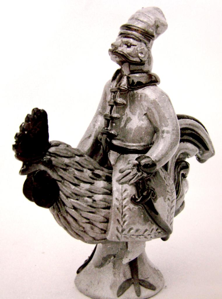 Twardowski na kogucie autorstwa Jadwigi Kosiarskiej [fot. ze zbiorów AP w Radomiu] w Radomiu